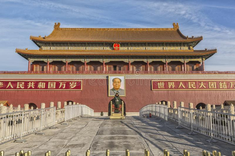 Forbidden city at Tiananmen square in Beijing, China stock image