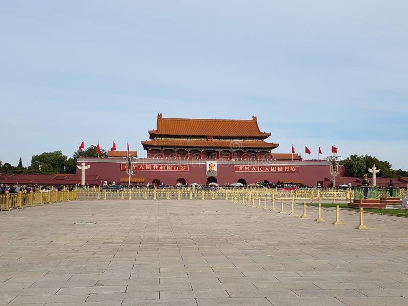 Tiananmen vierkant Peking royalty-vrije stock afbeelding