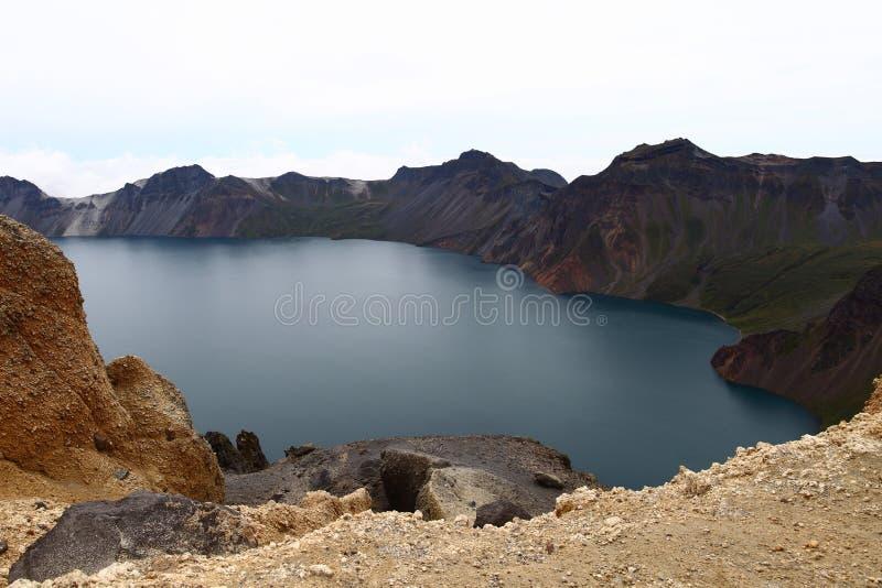 Tianchi Lake in Changbai Mountain royalty free stock image