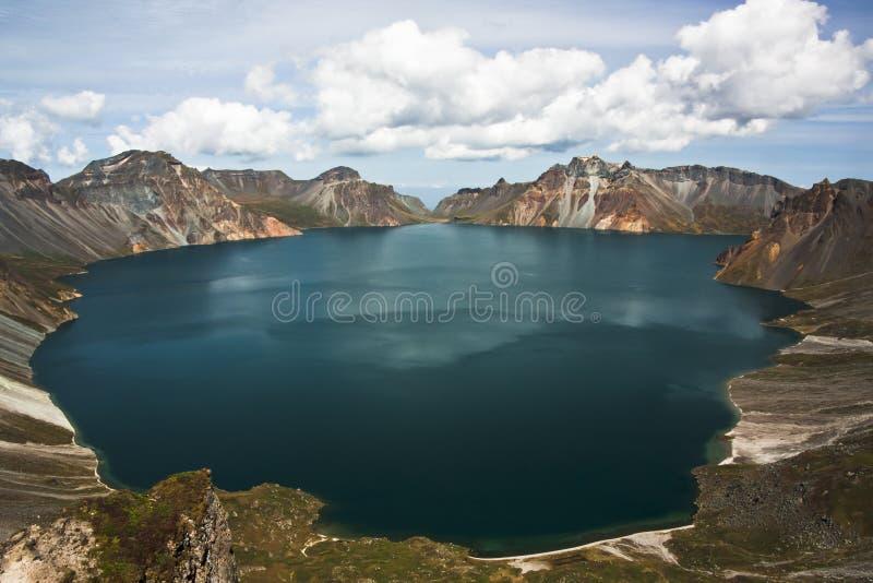 Tianchi in montagna di CHANGBAI immagini stock