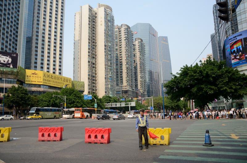 TianHe droga w Guangzhou, Chiny zdjęcie stock