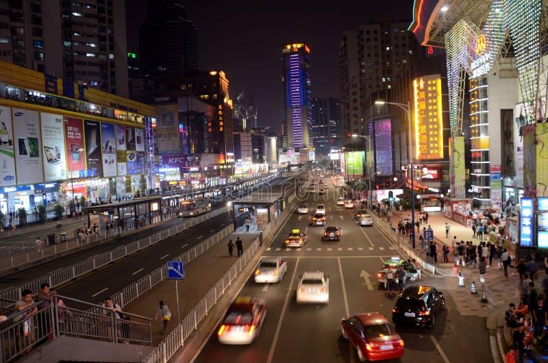 TianHe-Straße in Guangzhou, China stockfoto