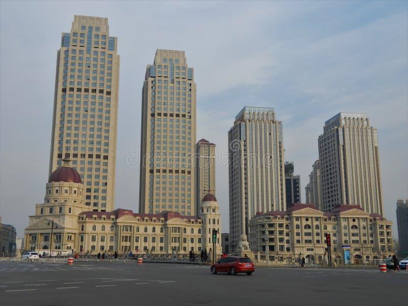 Tianjin śródmieście fotografia stock