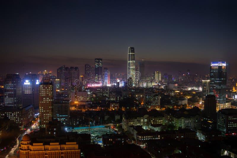 Tianjin, China, 2019 November, Stadtzentrum lizenzfreie stockfotos
