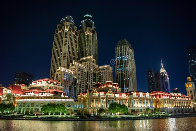 Tianjin, China, 2019 November, Stadtzentrum stockbilder