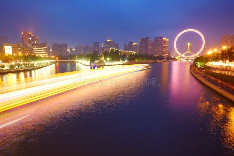 Tianjin pejzaż miejski, Chiny fotografia royalty free