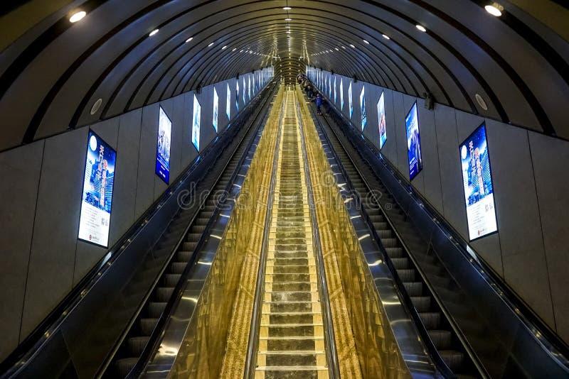 Tianmenshan Tianmen Halny eskalator w Zhangjiajie, Chiny obraz stock