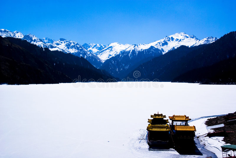 Tianshan Berg stockfotografie