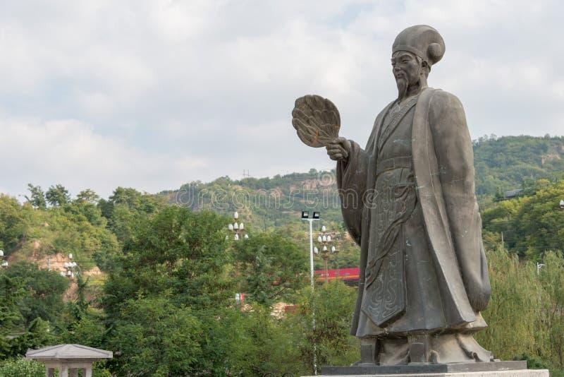 TIANSHUI, КИТАЙ - 6-ОЕ ОКТЯБРЯ 2014: Статуи Zhuge Liang в Tianshui стоковое фото