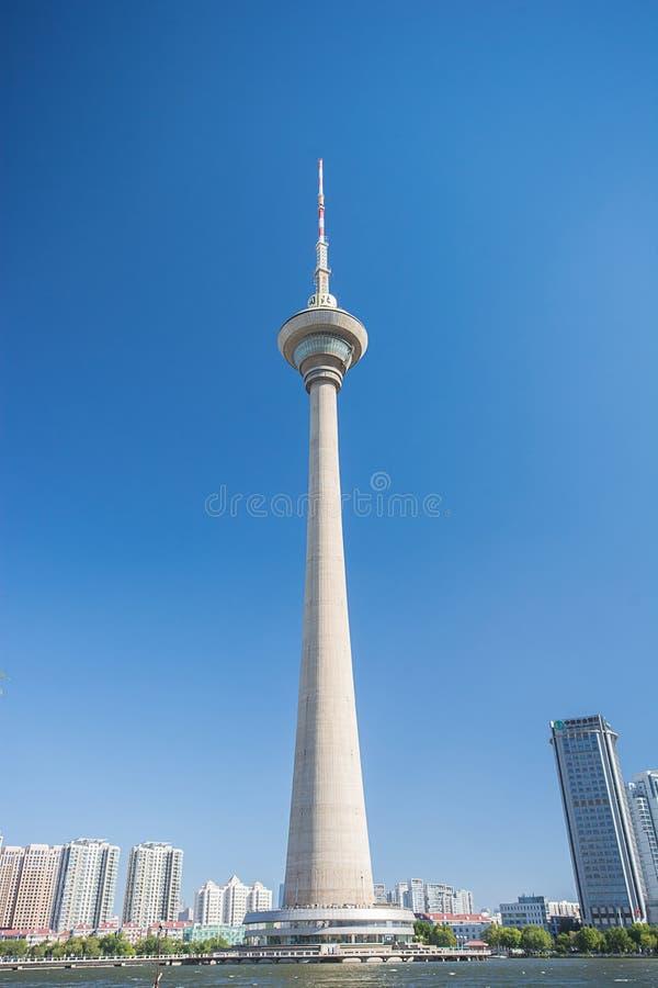 Tianta, башня ТВ в городе Тяньцзиня, Китае стоковое фото