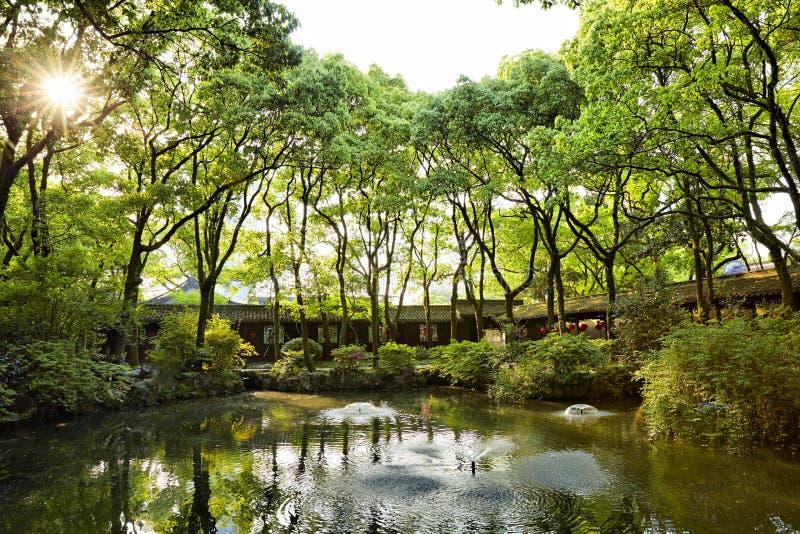 Tianyige trädgård i Ningbo, Kina arkivbild