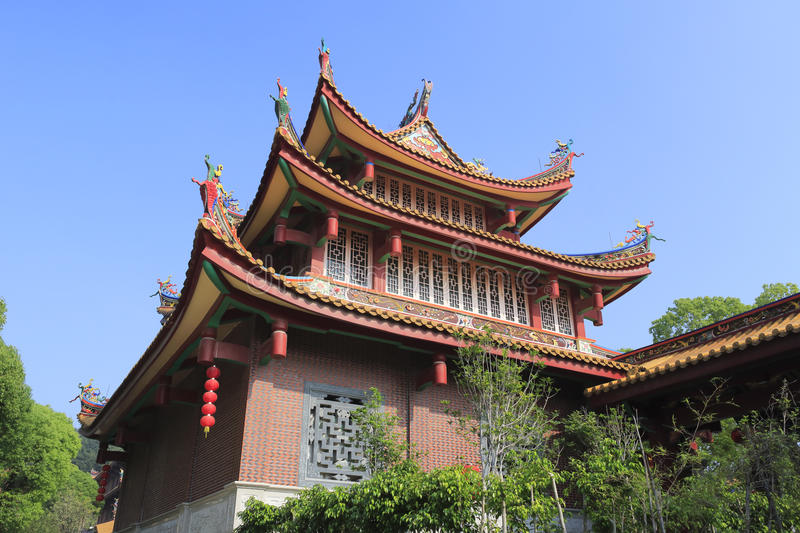 Tianzhuyan temple. Is on the xianyue hill, amoy city, china. started in qing dynasty, about 1712-1722. destroyed in the world war ii . in 1998 the municipal royalty free stock photos
