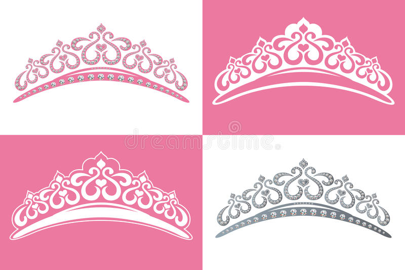 Tiara. This graphic is 4 tiara image. Illustration