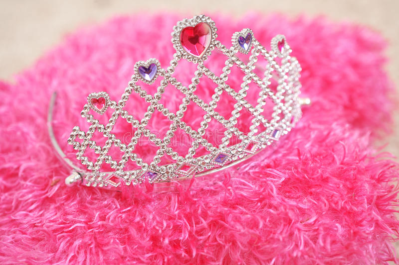 Tiara. For little princess on pillow royalty free stock images