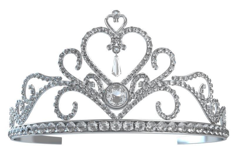 tiara royaltyfri illustrationer
