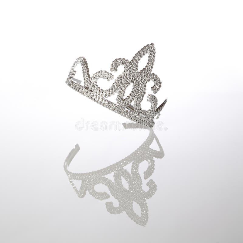 Tiara. Fake, diamond-encrusted princess tiara royalty free stock photos