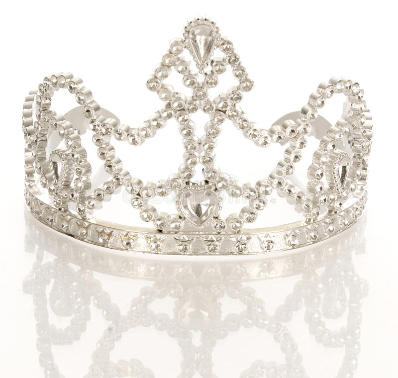 Tiara or crown. Crown or tiara isolated on a white background with reflection royalty free stock photos