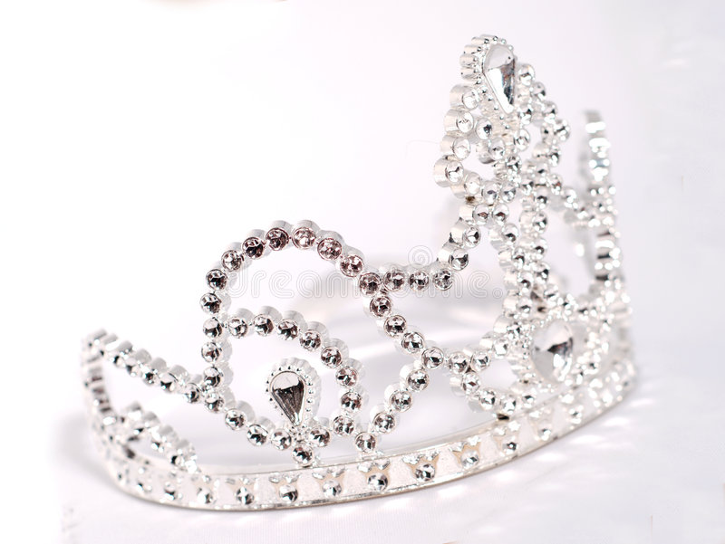 Tiara or crown. Details on white background royalty free stock photography