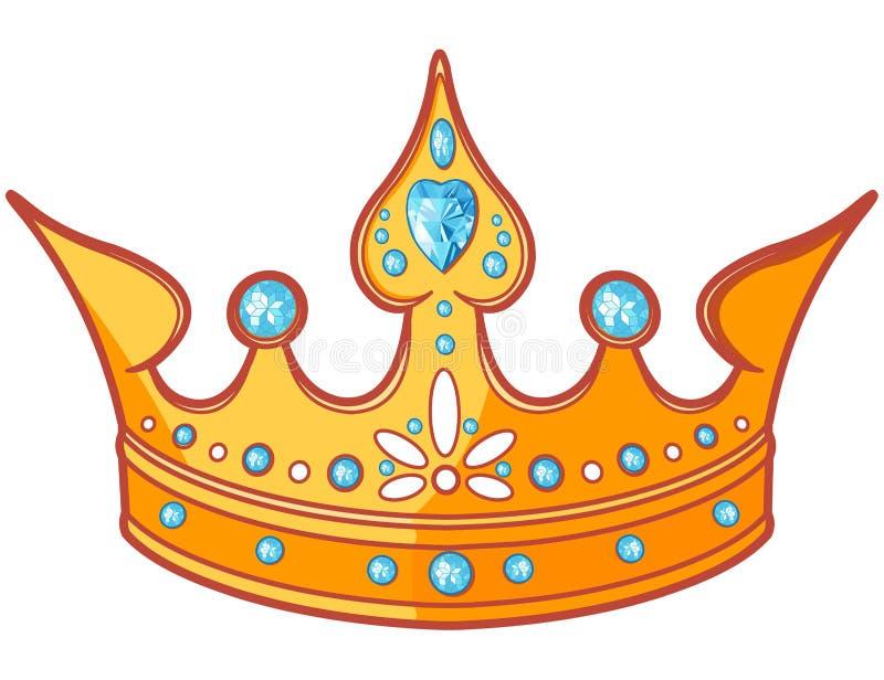 Tiara da princesa ilustração royalty free