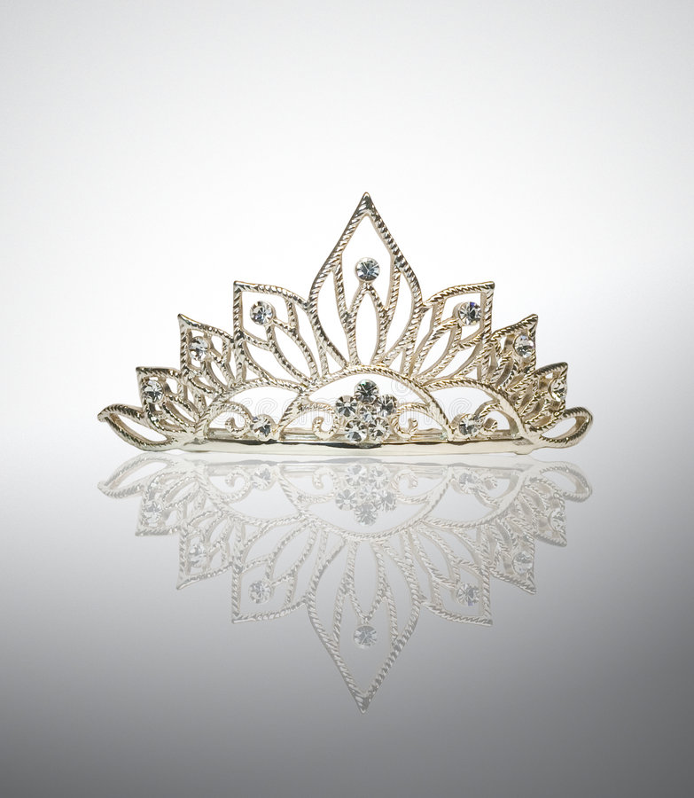 Tiara or diadem or crown with reflection royalty free stock image