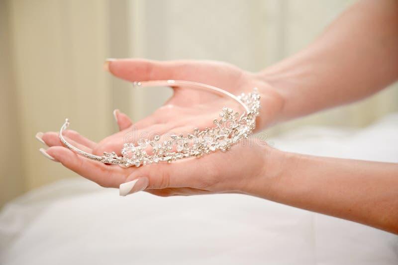 Tiara do casamento imagens de stock royalty free