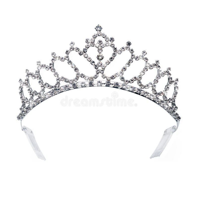 Tiara do ouro do diamante para a princesa foto de stock royalty free