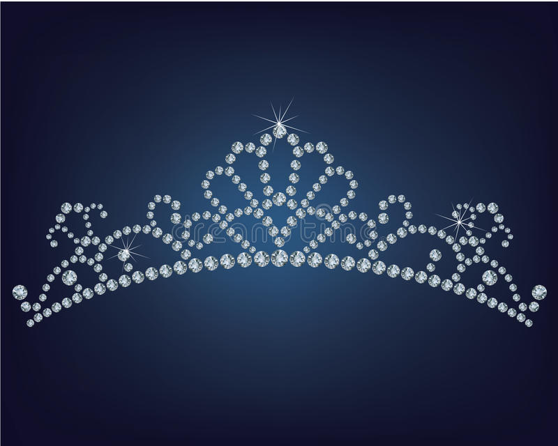 Tiara made a lot of diamonds royalty free illustration