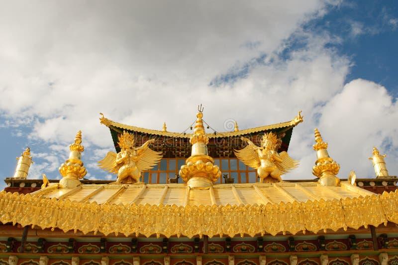 Tibétain de songzanlin de shangri de monastère de La de porcelaine photos stock