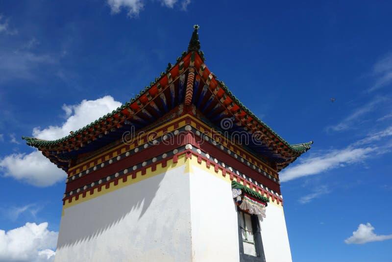 Tibétain de temple image stock