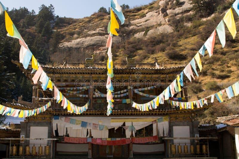 Tibatan świątynia w Chiny fotografia royalty free