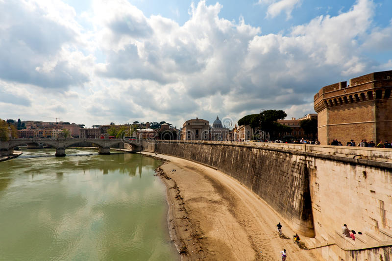 Download Tiber river in Rome stock image. Image of cityscape, building - 15556907