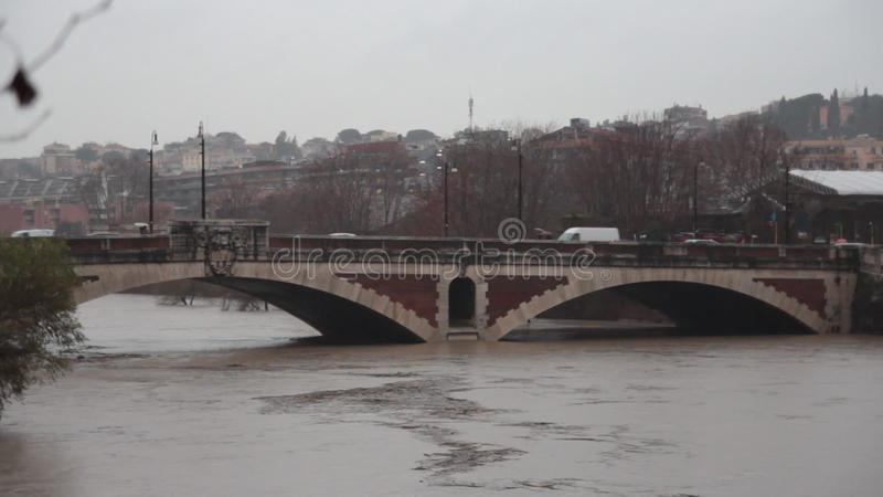 Tiber in Rome stock footage