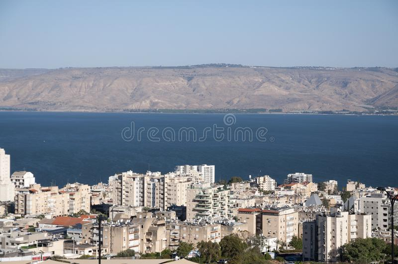 Tiberias And The Sea Of Galilee Stock Photo - Image of high, golan: 130253432