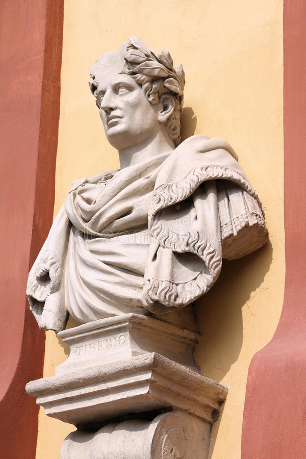 tiberius rome императора стоковое изображение rf