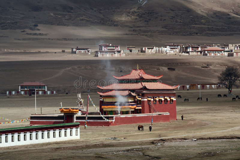 Tibet. It is a temple in tibet stock photography