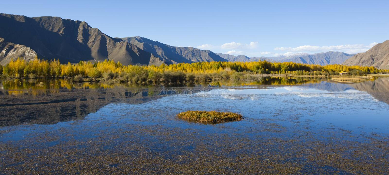 Download Tibet: autumn landscape stock photo. Image of lake, famous - 15637326
