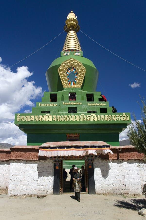 Tibet - Boeddhistisch Klooster Stupa - Samye royalty-vrije stock afbeelding