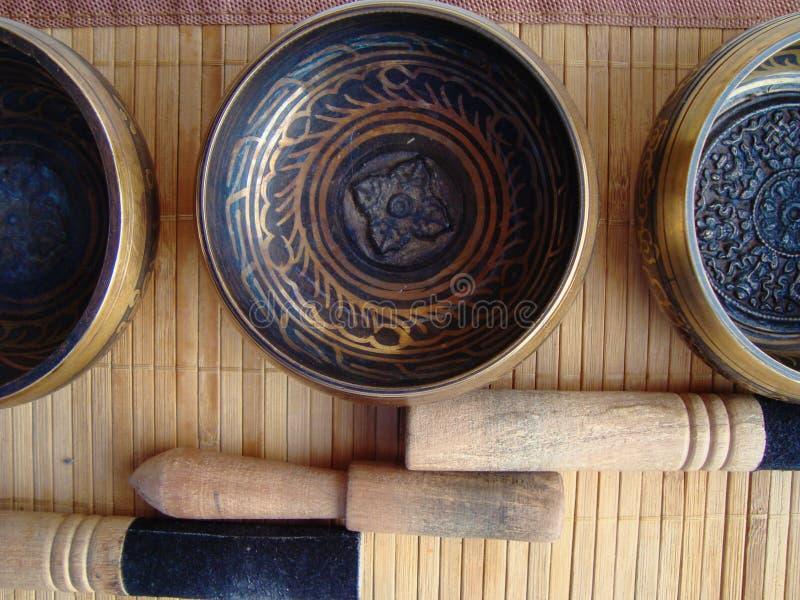 Tibet bowls royalty free stock photos