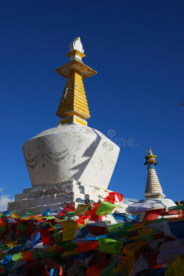Download Tibet Buddhism Chortens stock image. Image of blue, culture - 5580943