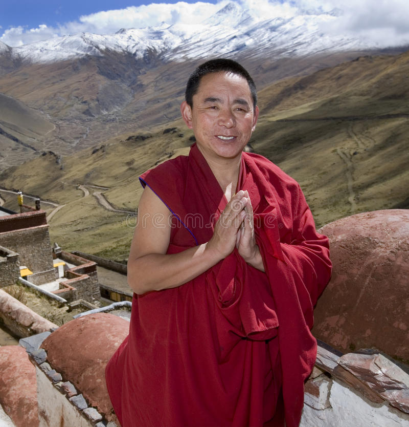 Tibet - Buddhist Monk - Himalayas royalty free stock photography