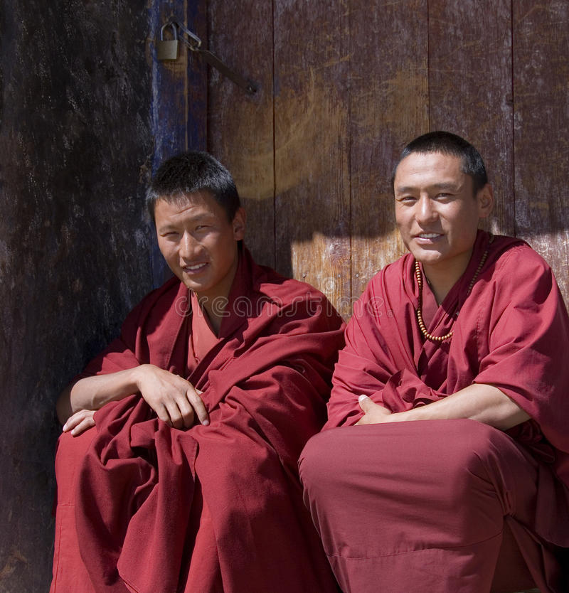 Tibet - Buddhist Monks royalty free stock photos