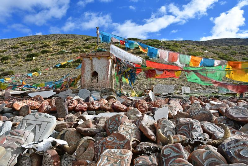 Tibet E royaltyfri fotografi