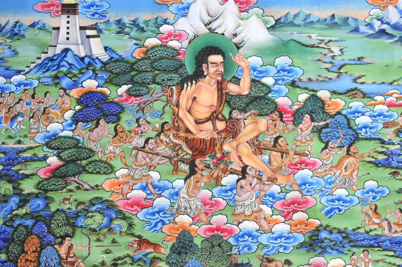 Tibet fresco royaltyfria bilder