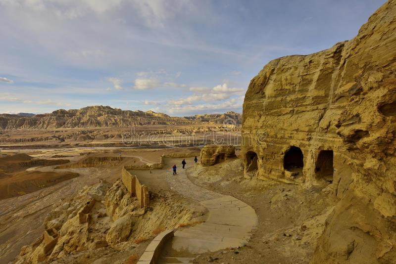 Tibet guge dynasty ruins royalty free stock photography