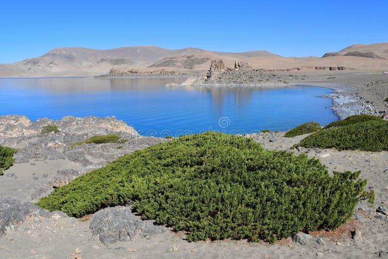Tibet helig sj? Nam-Tso Nam Tso i sommar, 4718 meter ovanf?r havsniv? placera str?m royaltyfri bild