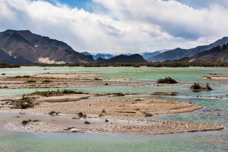 Tibet, hooglandrivier royalty-vrije stock foto
