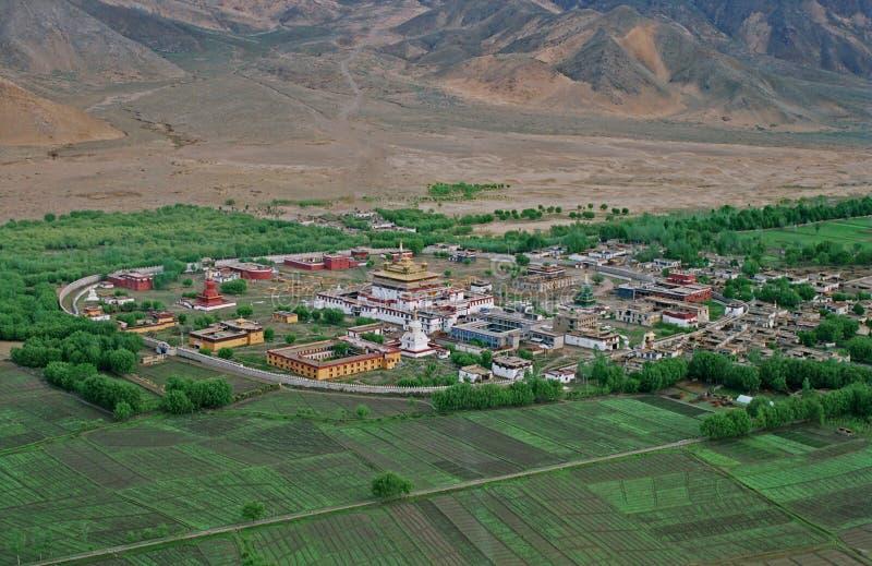 Tibet, Klooster Samye. royalty-vrije stock foto