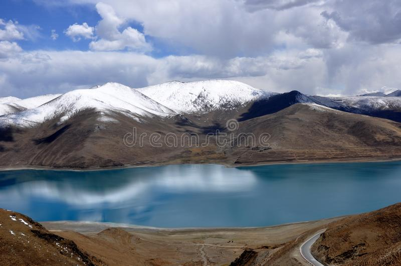 Tibet lake arkivfoto