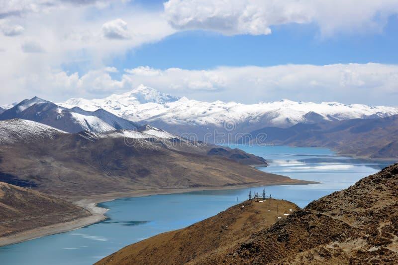 Tibet lake arkivfoton