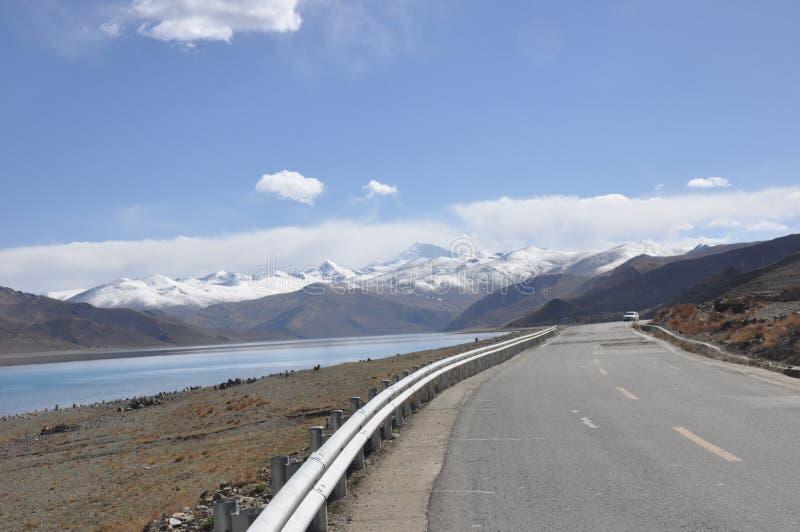 Tibet lake arkivbilder